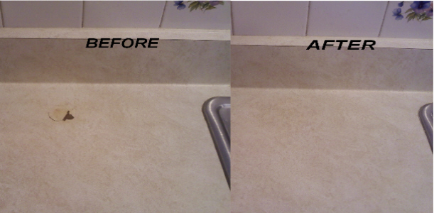 Counter Repair - Before After